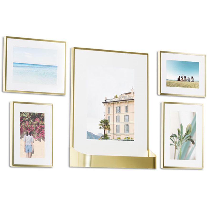 Picture of MATINEE photo frame set of 5 brass