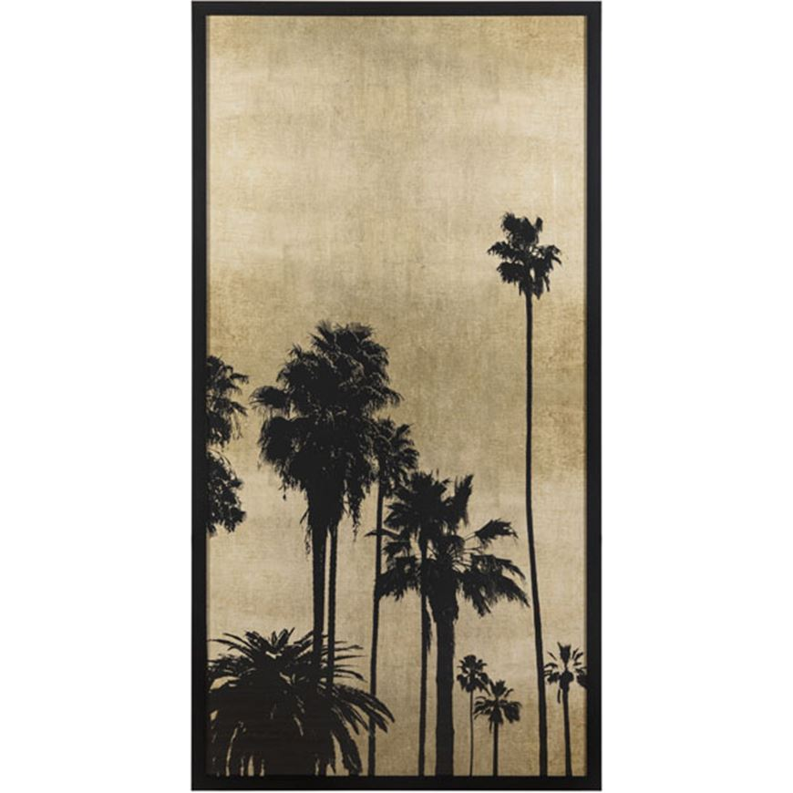 Picture of PALM Silhouette on Gold III print 78x154 black