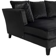 LOOS sofa 2.5 + chaise lounge Right microfibre dark grey