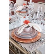 MIST soup plate d23cm set of 4 white/pink
