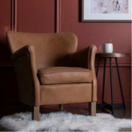 GREENWICH armchair leather brown