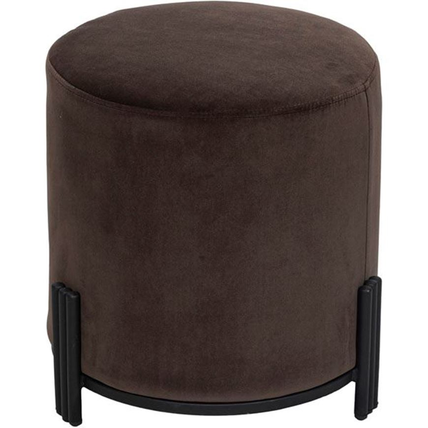 TRIGAS stool d42cm dark brown
