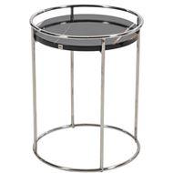 GOAD side table d40cm black/stainless steel