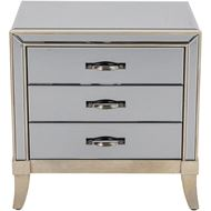 MARY bedside table grey/gold
