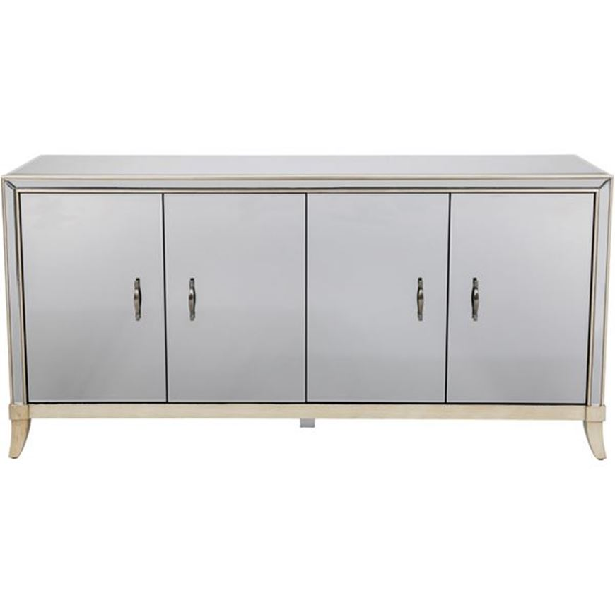 MARY sideboard 89x180 grey/gold