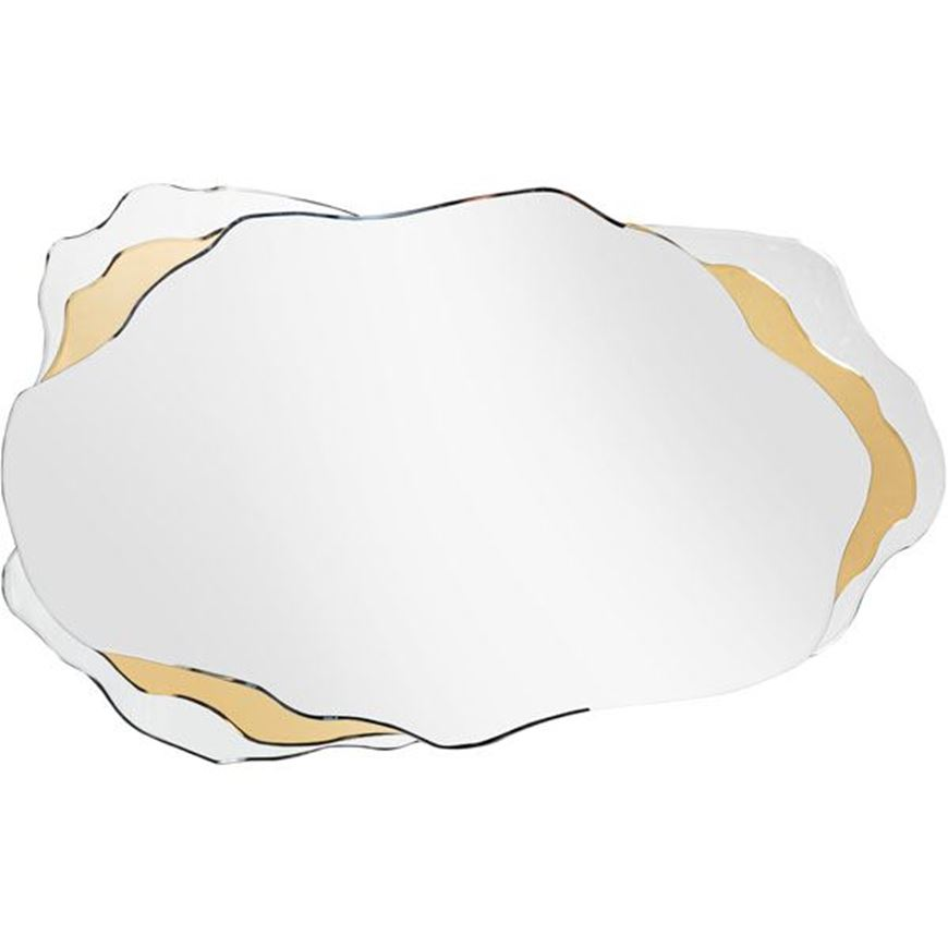 LOWA mirror 120x74 clear/gold