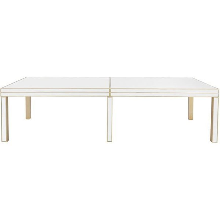 SALMI dining table 300x120 clear/gold