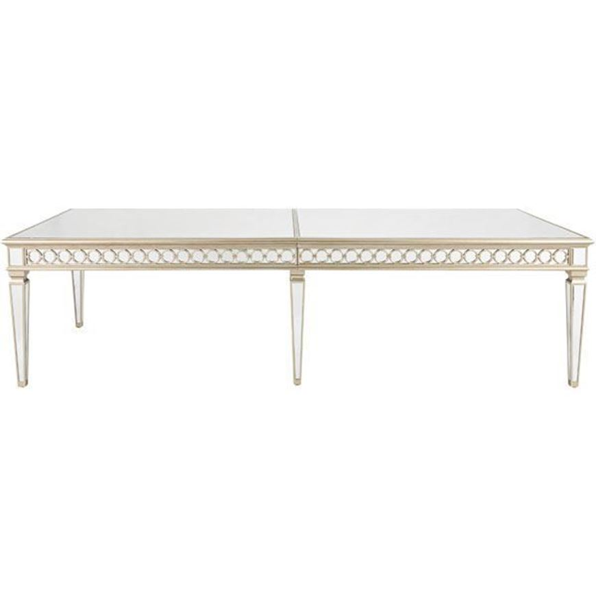 LINC dining table 300x120 clear/gold