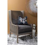 HARRY wing chair dark grey