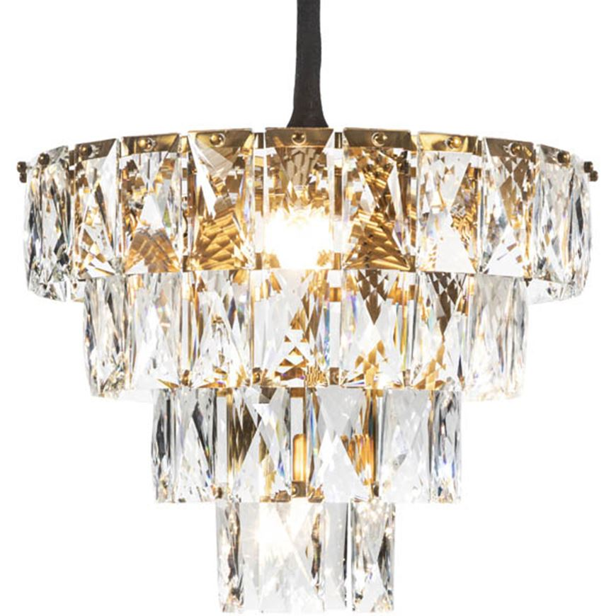 Picture of PRINCESS 7 chandelier d54cm clear/brass