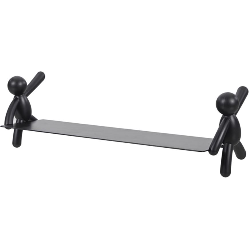 Picture of BUDDY wall shelf 46x14 black