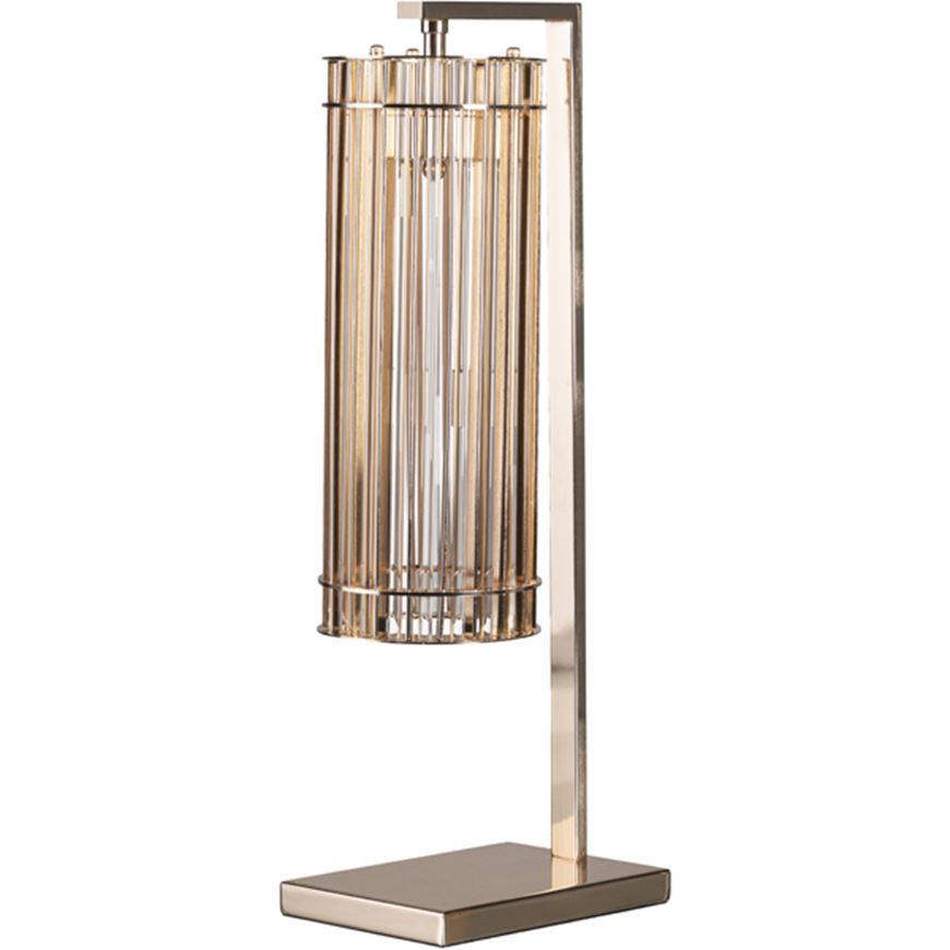 Picture of LAZY table lamp h66cm gold/clear