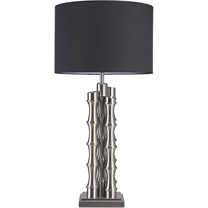 Picture of BAMBU table lamp h89cm black/nickel