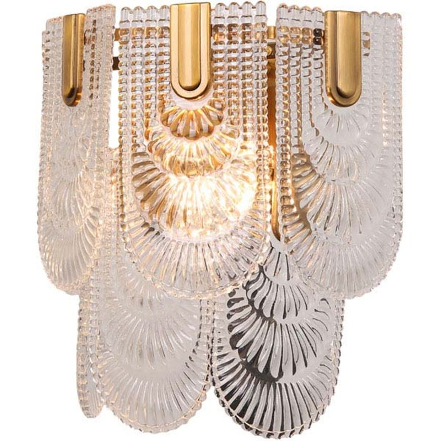 Picture of ELIM wall lamp h33cm clear/brass
