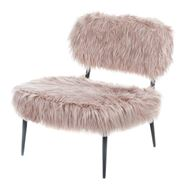 HAIRY armchair pink