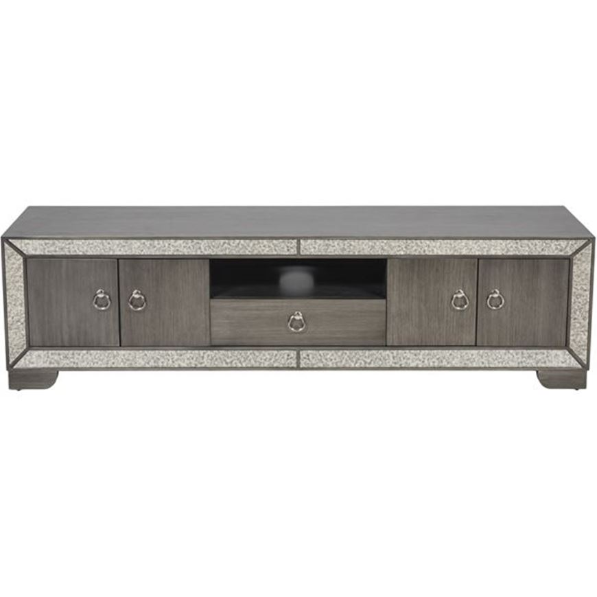 MENA entertainment unit 48x180 clear/silver
