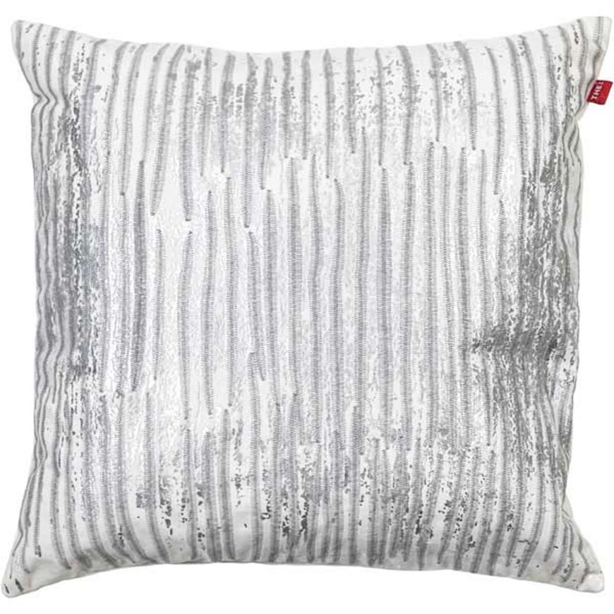 Picture of LIONA cushion cover 50x50 silver/white
