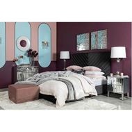VEE bed 160x200 microfibre dark grey