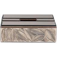 LEAF tissue box 15x27 brown