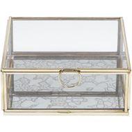 ELLISON box 16x16 clear/gold
