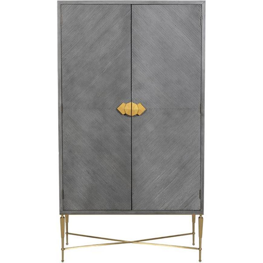TOTO cabinet 185x102 grey/gold