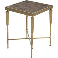BURLY side table 45x45 natural/gold
