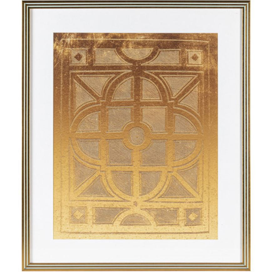 Picture of GOLDEN Life II print 54x64 gold