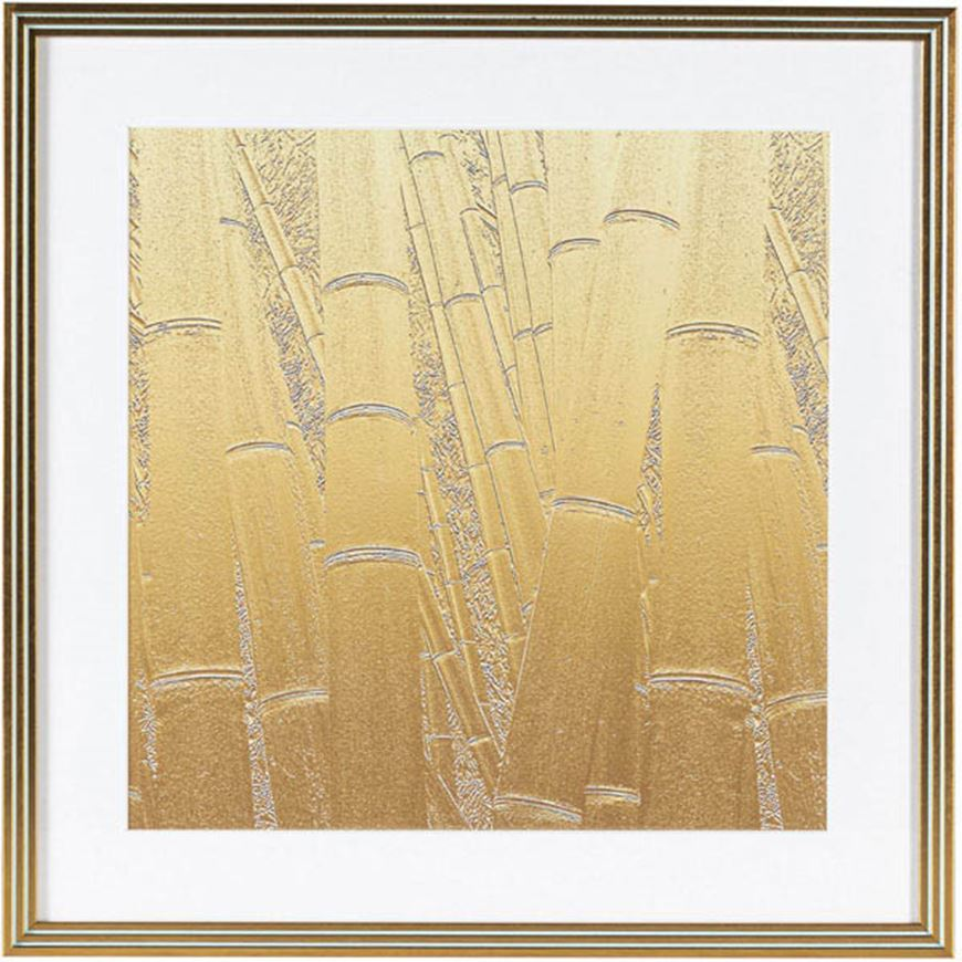 Picture of BAMBOO II print 53x53 gold