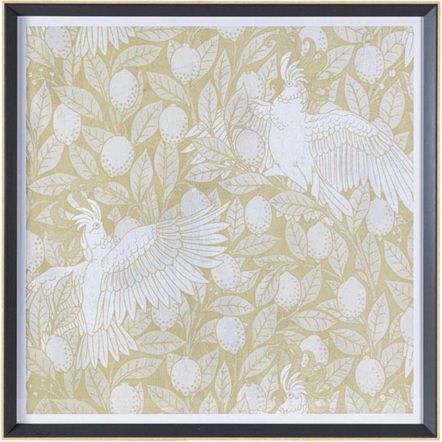 Picture of BIRD IV print 74x74 brown