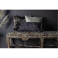 FLORA cushion cover 45x45 green/black